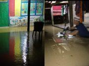 Banjir di Kecamatan Sukaresmi, merendam sekolah dan rumah warga, Senin 7 Desember 2020.